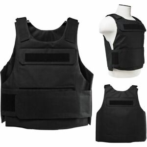 ARMORED VEST BULLETPROOF CARRIER Tactical Police SWAT 2XL 3XL Plus Size BLACK