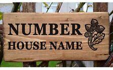 Rustic Acorn House Gate Sign Plaque Door Number Personalised Name Plate Oak Tree