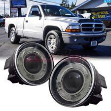 For 01-04 Dodge Dakota Winjet OE Factory Fit Fog Light Halo Projector Clear Lens