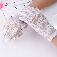 Women UV Driving Gloves Wedding Bridal Gloves Short Lace Gloves MA