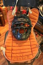 Vintage Baseball Catcher's Mask and Vest