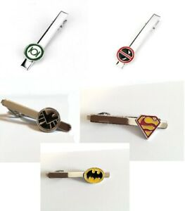CLEARANCE!! Superhero Tie Clip Wedding Groom Tieclip  Fathers Day Gift Geeky