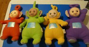 Playskool 1998 Teletubbies Set of 4 Vinyl Plush Dolls working