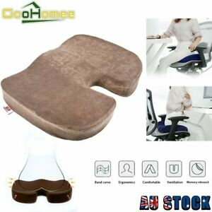 Memory Foam Coccyx Orthoped Seat Cushion Lumbar Back cushion Pain Relief Office
