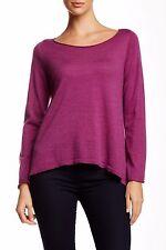 Eileen Fisher Ballet Neck Merino Wool Sweater Size Medium (Retail $198)