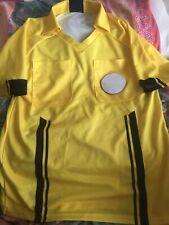 Brava Adult Referee Jersey Soccer Football Yellow Black NWT Badge