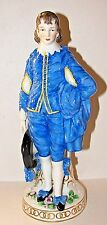 Antique 19th Century German Porcelain Blue Boy Figurines Edme Samson Chelsea