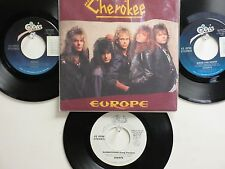 LOT OF 4 ' EUROPE ' HIT 45's+1PS[Superstitions]        THE 80's !