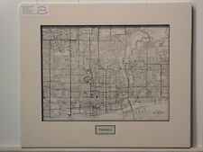Antique Original Rand McNally Map of Toronto, lift-matted with inset title