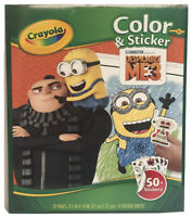 Crayola Despicable Me 3 Color and Sticker 32 Page 50+ Stickers Activity Book