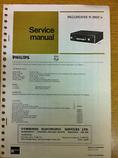 Philips N2602 Car Cassette Player Service Manual - Vintage Car Radio Audio 60's
