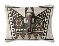 EXCLUSIVE AFRICAN DESIGN ~ Bobo Bwa Hawk Mask Design ~ STANDARD-SIZE PILLOW SHAM