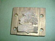 PRINCE OF WALES-DIANA ...........ROYAL WEDDING 1981 BRASS HOT FOIL, STAMPING DIE