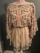 Free People Frida Embroidered Dress In Ivory Combo Size XS NWT