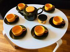 🔴 Splendido servizio thè caffè in ceramica orig. SIC anni 70 Antonia Campi