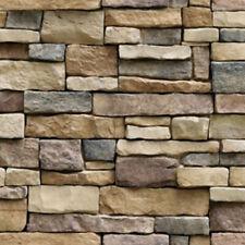 3D Grey Neutral Brick Wallpaper Feature Wall Paper Roll mural Stone Effect GOUS