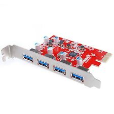 [Soporte UASP para Mac Pro] Inateck 4 Puertos Pci-e a USB 3.0 tarjeta de expansión Fo..