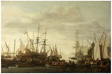 "Maritime ""The Keelhauling of the Ship's Surgeon"" Verschuier ca. 1670"