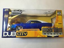 Jada Big Time Muscle 1:24 Scale 1970 DODGE CHARGER Diecast Blue White