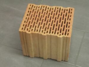 30er Unipor Blockziegel W14 10DF Hochlochziegel 24,7x30x23,8 Porotonsteine
