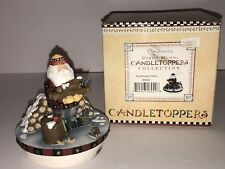 "Debbie Mumm ""Woodchopper Santa"" Candle Topper   Our America    NEW"