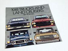 1981 Toyota Trucks and Land Cruisers Brochure