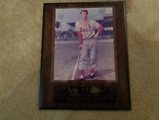 """Stan Musial Autographed  Picture Plaque with COA--HOF Inductee  12"""" x 15"""""""
