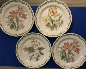 "NORITAKE GOURMET GARDEN Casual Floral Botanical 10-3/4"" Dinner Plates Set of 4"