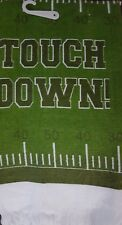 NEW COTTON KITCHEN DISH TOWEL    TOUCH DOWN  FOOTBALL FIELD GREEN FRINGE HEM