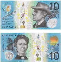1 AUSTRALIA Latest $10 ten Dollar 2017 new GEM UNC BanknotesVery Early AF Prefix