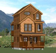 16x16 Tiny House -- 2 bedroom -- 697 sqft -- PDF Floor Plan -- Model 20A