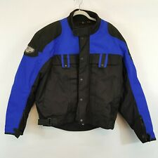 First gear Motorcycle Jacket TREKKER Leather-Tex Black and Blue Sz XL