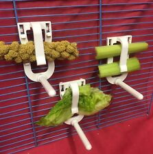 Pet Supplies Nice 2 Cuttlefish Universal Clip Perch Holder Only Millet Veg Budgie Canary Cockatiel