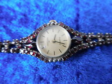 schöne,alte Armbanduhr__835 Silber mit Granatbesatz__Ankera__ !