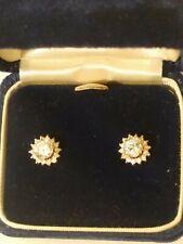 14k Gold CZ Earrings