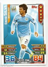 2015 / 2016 EPL Match Attax Base Card (157) David SILVA Manchester City