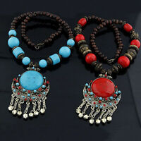 Women Vintage Retro Boho Pendant Long Chain Sweater Necklace Jewelry Trendy