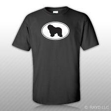 Polish Lowland Sheepdog Euro Oval T-Shirt Tee Shirt Free Sticker dog pet
