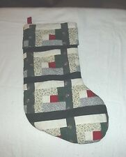 """Quilted Christmas Stockings Approx 17"""" x 8""""multi green, red, white, patterned"""