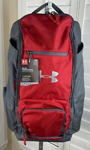 Under Armour Original UA LAX Lacrosse Team Red/Graphite Backpack 1326580-600 NWT