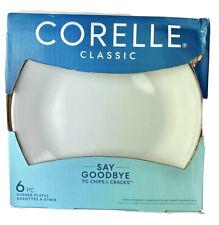 """Corelle Winter Frost White Dinner Plates 10 1/4"""" Diameter Set of 6"""
