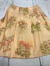 DKNY City Petites Peach With City Print Skirt Size 8 P