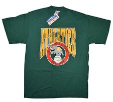 NOS Vintage OAKLAND ATHLETICS A'S T-Shirt Mens XL Green Trench Ultra 1990 USA