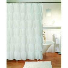 "Gee Di Moda Gypsy Ruffled Shower Curtain White 70"" wide x 72"" long New"