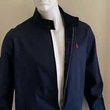 $149.00 Men's POLO Ralph Lauren Navy Blue Cotton Jacket NWTGs size LARGE L