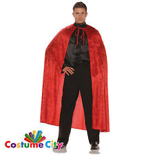 Adults Full Length Red Velvet Cape Halloween Fancy Dress Costume Accessory