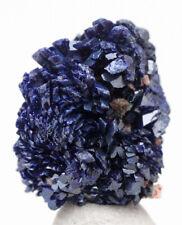 Azurite DEEP BLUE Crystal Cluster Mineral Specimen Rosettes Gem Druzy MOROCCO