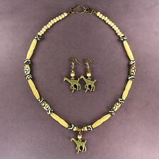 Giraffe Necklace Earrings Set Tribal Totem Attraction Africa Wild Animal Magick