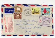 RHODESIA: 1970 Airmail cover to Scotland with Invalid stamps (C54829)