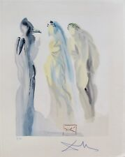 Salvador Dali HAND SIGNED 1960 DIVINE COMEDY PARADISE # 9 Color Woodblock